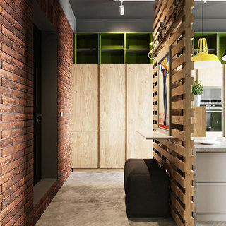 98平时尚工业风装修文化砖背景墙图片