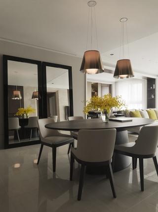 时尚宜家风格公寓餐厅镜子装饰设计