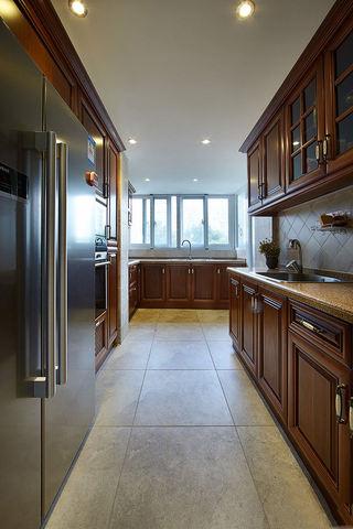 高端大气东南亚家装厨房实木橱柜欣赏大全