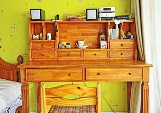 复古东南亚风情 实木书桌设计