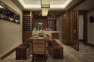 沉稳复古东南亚设计餐厅效果图