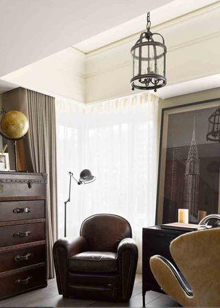 复古美式设计休闲区局部装饰效果图