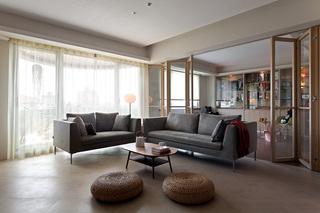 125㎡现代风格客厅沙发装修布置图