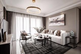 110㎡新中式风格沙发背景墙装修效果图