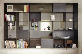 工业风格一居室装修书架设计图
