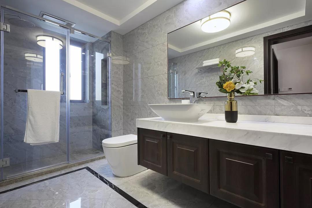 新中式风格大户型卫生间装修设计图