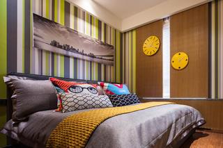 70平二居装修卧室效果图