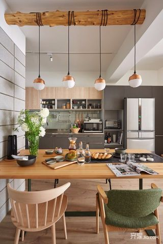 80平欧式风格家餐厅布置图