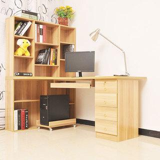 原木色书桌设计图