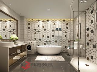 400平奢华风格别墅卫生间装修效果图