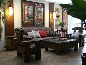 别具一格休闲中式 三室两厅公寓装修