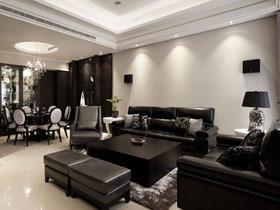 黑色大气一居室 时尚质感生活
