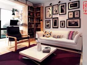 对比色系巧搭配 老屋变身华丽二居室