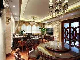 低调奢华美式房 138平二居室