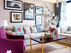 现代法式二居室 唯美颜色巧搭配