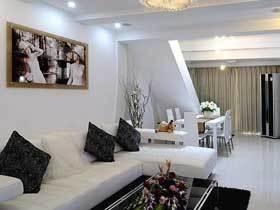 20万装现代简约110平三居设计案例