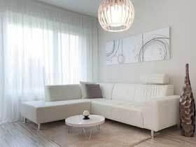 20万装100平现代纯白公寓设计案例