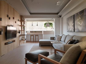 欧式简洁二居设计案例