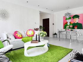 美丽彩绘幸福秀 简约温馨精致小公寓