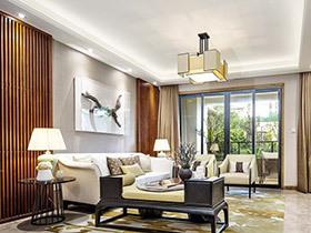 139平现代中式风格装修样板房 舒适清雅