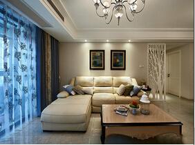 130平欧式风格三居室装修  360°无死角