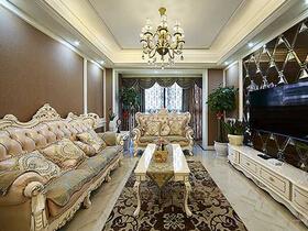 110平三居室欧式风格装修  满目尊贵奢华感
