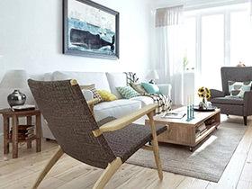 白桦林的童话 70平北欧风格单身公寓装修