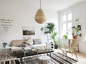 北欧文艺范之家 85平一居室装修效果图