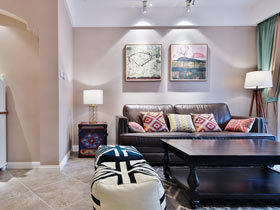 110平美式风格三居室装修 90后夫妻的婚房