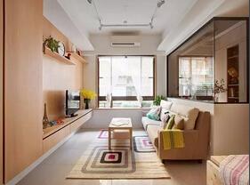 150平简约风格两居室效果图 超大面积很舒服