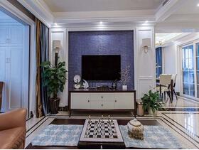130平美式风格三居室装修 多种元素混合的美感