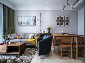 110平简约风格三居室 体验灰调的时尚感