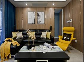 130平三居室装修样板间 现代风格装修效果图