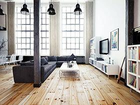 80平loft装修效果图 工业风与现代感完美结合
