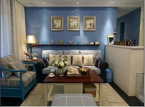 夏天在这样的家里带着好享受  沉迷于蓝色三居室