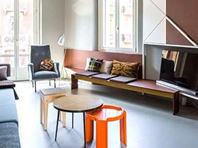 50平混搭两居室  拥有大宅的风范