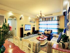 清新又温暖的地中海风格  这样的家效果很亮眼