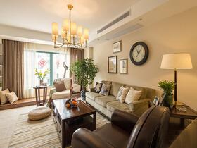 咖啡的丝滑与甜润  在这套美式三居室里体现的淋漓尽致