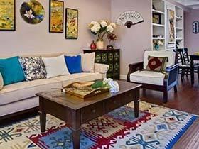 美式休闲三居室  在这样的家里能让全身心都放松