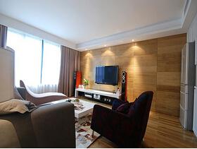 色调深浅相间超时尚  都市感十足的三居室装修