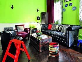 要装就装一个个性的家 荧光绿装点跃层公寓
