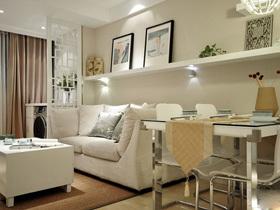 时尚淡雅中式风格 70平宁静的小三房