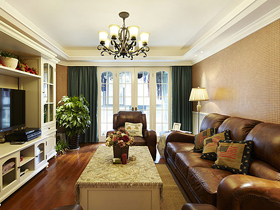 130平三居室美式风格 舒适惬意生活