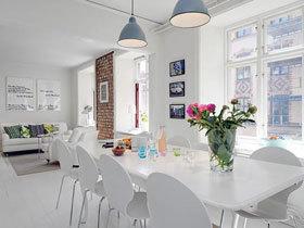 12万90平北欧风格二居室装修 素雅的复式案例设计