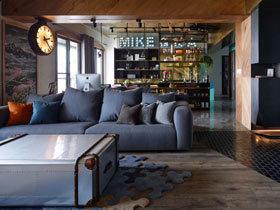 如小酒馆般惬意 160平工业风公寓装修图片
