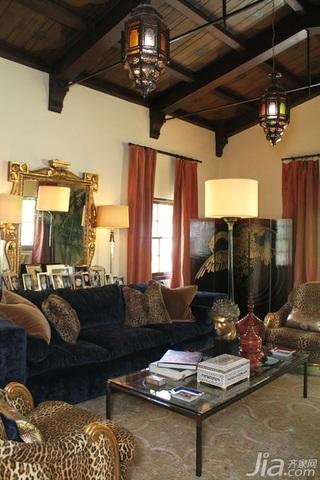奢华宫廷式风格 欧式风格复古三居室装修别墅