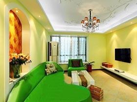 绿色控的色彩搭配法 8万装70平混搭风格一居室