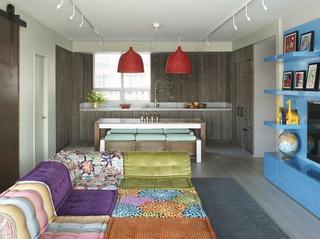 欧式也有神奇的配色 波西米亚风三居室公寓