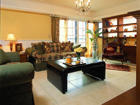古韵实木家 90平美式风格古典二居室装修