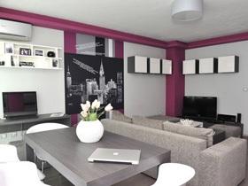 玫红印象 保加利亚简约风格一居室装修